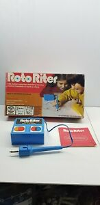 Roto Riter vintage blue battery operated not working kids toy sketch doodle