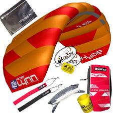 Peter Lynn Hype 1.6 Foil Power Stunt Kite 2 Line Control Strap Speed Wing Orange