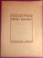 Collection H. Rouart - Catalogue de tableaux anciens et modernes -1913- Bon état