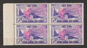 1955 South Vietnam Air Post Stamps Block 4 Phoenix Scott # C10 MNH