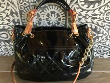 Cavalcanti Black Patent Leather Satchel Shoulder Handbag