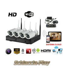Kit Video sorveglianza Wireless Wifi Interno Esterno 4 Canali DVR JORTAN