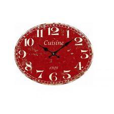 Horloge cuisine rouge