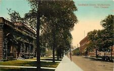 Walkerville Ontario~Big Ivy-Covered Building on Sandwich Street 1914