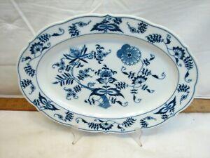 "Blue Danube 12"" Oval Serving Plate Platter Dinnerware Blue Onion"