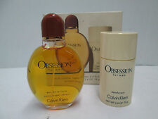 """ OBSESSION BY CALVIN KLEIN "" CONFEZIONE PROFUMO UOMO EDT 75ml SPRAY + DEO STICK"