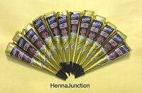 12 Dark Black Henna Cones Tattoo Art Herbal Temporary Body Ink Mehndi Hina