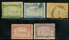 Venezuela #137-141 Complete Set 1896 Used