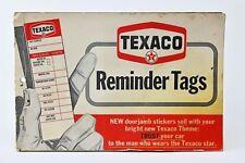 Texaco Service Remider Tags 97 Doorjamb Stickers In Book 1971