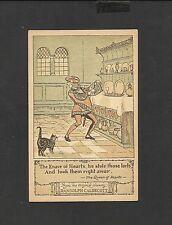 Randolph Caldecott Nursery Rhyme Postcard Knave of Hearts Stole Tarts Unposted