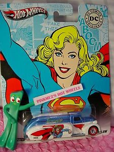 2012 DC Comics Hot Wheels Supergirl '38 DODGE AIRFLOW☆Blue/white☆Real Riders☆Pop