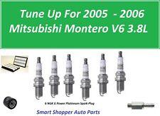 Tune Up 2005 2006 Mitsubishi Montero Air FilterOil Filter, PCV Valve Spark Plugs