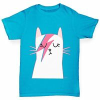 Twisted Envy Boy's Rock And Roll Cat Printed Cotton T-Shirt