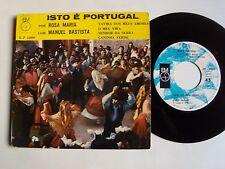 """ROSA MARIA com grupo MANUEL BATISTA : Isto é Portugal 7"""" EP DISQUES EM 4 EP 1009"""