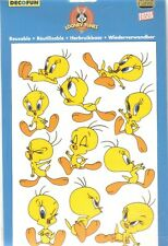 Warner Bros: TITI  (TWEETY)   grand blister de 11 autocollants réutilisables1999