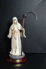 "La Santa Muerte 8 1/2"" Grim Reaper-Death Color White-Skull, Skeleton Halloween"