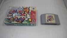 PAPER MARIO (Nintendo 64 2001) RARE Box + Cart N64 Princess Peach