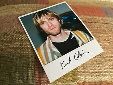 Polaroid KURT COBAIN Signed Photo Printed autograph NIRVANA not authentich Kurdt