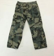 Wrangler Camo Cargo Pants Boys Size 16 Husky Adjustable Waist
