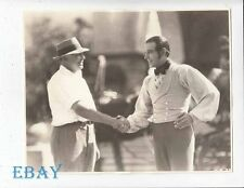 Rudolph Valentino Director Clarence Brown RARE Photo The Eagle candid on set