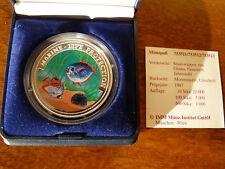 Ghana 100 Sika 1997 Marine Life Protection Silber mit Zertifikat
