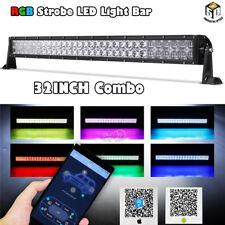 "CREE 32""inch 600W RGB LED Light Bar Strobe Flash RZR 900 XP1000 Ranger ATV UTV"