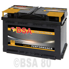 Autobatterie 80Ah 12V +30% Power Starterbatterie statt 70Ah 72Ah 74Ah 75Ah 77Ah