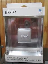 NEW iHome 4-Port USB 2.0 Hub for Mac | IMAC-U100W