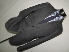 AX ~ Armani Exchange 2 Button PEAK side vents 100% Cotton men's jacket coat 42 L