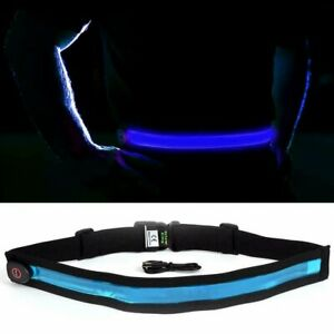 GlowCity Bright LED Light up Perfect for Night Safety Belt With Adjustable Strap