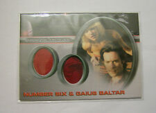 Battlestar Galactica Season 3 Duo costume trading card DC3 Number Six & Baltar