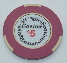 Rouge Et Noir $5 Casino Chip Philipsburg St. Maarten Bud Jones Mold