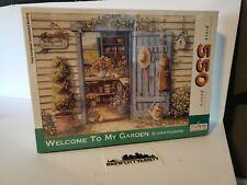 """Spilsbury Puzzle 550 piece """"Welcome to My Garden"""" Completed new factory sealed"""