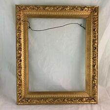 """Vintage Picture Frame Wooden Gold Gilt Gesso 17 1/2"""" X 14 1/2"""" Arts/Crafts"""