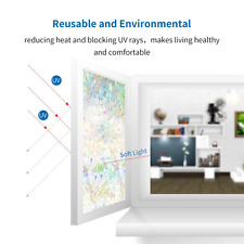 3D Static Privacy Stained Glass Door Window Film Anti UV Home Office Room Decor