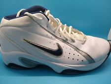 Nike Overplay IV White & Blue Hi-Top Basketball Shoes Size 13