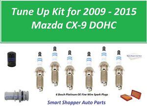 Tune Up for 2009 - 2015 Mazda CX-9 V6 3.7L Cabin Air Filter, Oil Filter, Air Fil