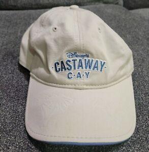 Disney Parks Castaway Cay Cap Adult Hat Disney Cruise Line White Blue