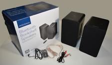 Insignia Powered Bookshelf Speakers Black AUX & Bluetooth NS-HBTSS116 no remotes