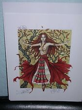 Amy Brown - Red Witch - SIGNED - VERY RARE