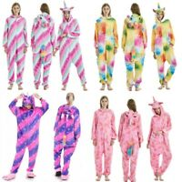 Multicolor Unicorn Pajamas Fancy Dresses Unisex Adult Sleepwear Cosplay Costume