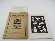1923 Good Ideas for Easter Busy Bee Cutout Card Packet for Little Folk +