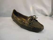Talbots Brown Reptile Textured Loafers Slip On Shoes Women's Size 6.5 US