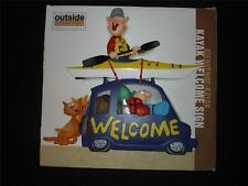 NIB Outside Inside Bienvenue-Kayak KAYAK WELCOME SIGN