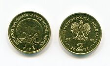 2006 FIFA SOCCER CUP POLAND 2 ZLOTY NORDIC GOLD COIN x 10 PIECE LOT