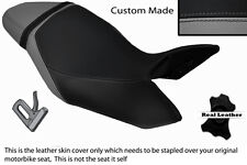 GREY & BLACK CUSTOM FITS TRIUMPH SPEED TRIPLE 1050 11-13 LEATHER SEAT COVER