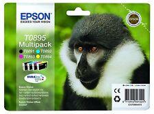 EPSON T0895 TO895 1 X T0891 T0892 T0893 TI autentico CONFEZIONE MULTIPLA
