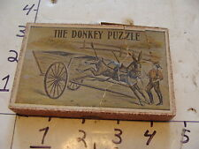 Vintage Puzzle--1800's THE DONKEY PUZZLE IN worn BOX Chaffee & Selchow