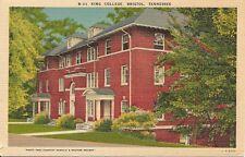 King College, Bristol, Tennessee. Vintage Postcard.