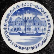 1999 Royal Copenhagen Fayence MINI PIATTO DI NATALE/CHRISTMAS PLAQUETTE